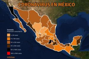 Mapa del coronavirus en México: Tijuana, Mexicali y Cancún, las zonas con mayor incidencia de contagios después del Valle de México